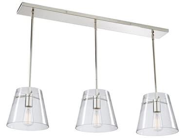 Artcraft Lighting Cafe Chrome 36'' Wide Glass Island Light ACSC13231