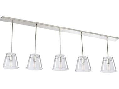 Artcraft Lighting Cafe Chrome 45'' Wide Glass Island Light ACSC13235