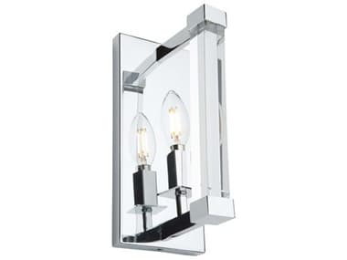 Artcraft Lighting Carlyle Chrome Glass Wall Sconce ACAC11400