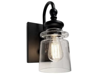 Artcraft Lighting Castara Black / Brass One-Light Glass LED Vanity Light ACAC11591BK