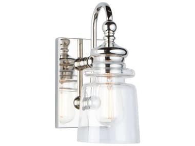 Artcraft Lighting Castara Polished Nickel One-Light Glass LED Vanity Light ACAC11591PN