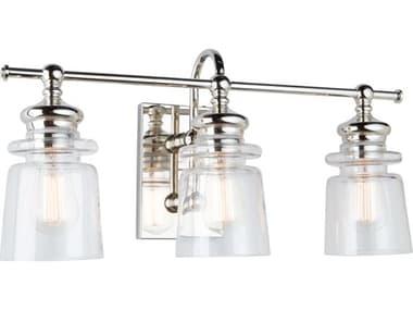Artcraft Lighting Castara Polished Nickel Three-Light Glass LED Vanity Light ACAC11593PN