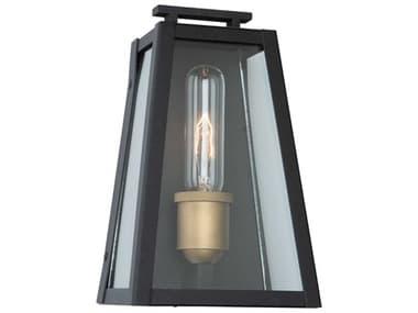 Artcraft Lighting Charlestown Black / Vintage Gold One-Light 6'' Wide LED Outdoor Wall Light ACAC8106BK