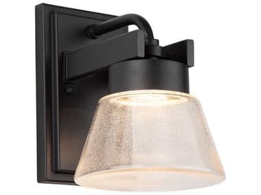 Artcraft Lighting Clareville Black One-Light Glass LED Outdoor Wall Light ACAC9080BK