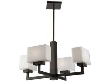 Artcraft Lighting Cube Oil Rubbed Bronze Four-Light 23'' Wide Chandelier ACSC13184OB