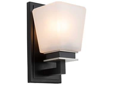 Artcraft Lighting Eastwood Black / Brushed Nickel One-Light Glass LED Vanity Light ACAC11611BN