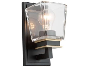Artcraft Lighting Eastwood Black / Brass One-Light Glass LED Vanity Light ACAC11611VB