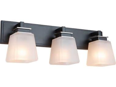 Artcraft Lighting Eastwood Black / Brushed Nickel Three-Light Glass LED Vanity Light ACAC11613BN
