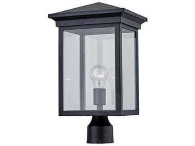 Artcraft Lighting Gable Black 10'' Wide Outdoor Post Light ACAC8463BK