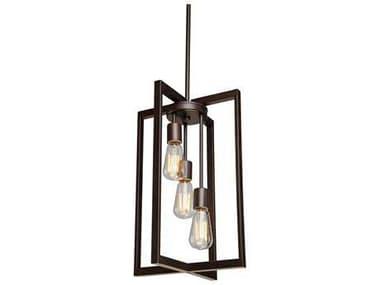 Artcraft Lighting Gastown Oil Rubbed Bronze Three-Light 12'' Wide Pendant Light ACAC10413