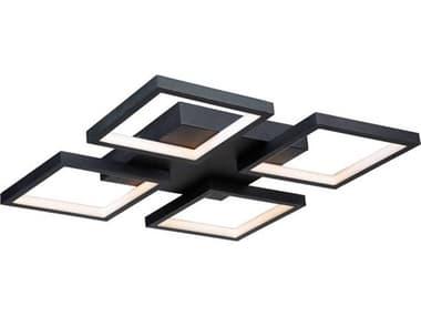 Artcraft Lighting Graymar Black 4-light 18'' Wide LED Flush Mount Light ACAC7629BK