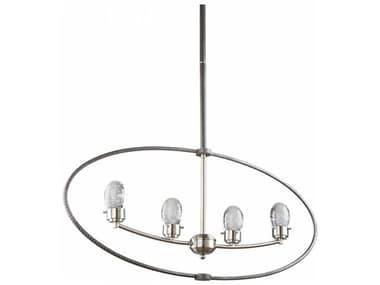 Artcraft Lighting Kingsford Slate & Brushed Nickel Four-Light 36'' Wide LED Island Light ACAC7454