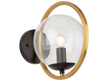 Artcraft Lighting Lugano Black / Vintage Brass One-Light Glass LED Wall Sconce ACAC10891VB
