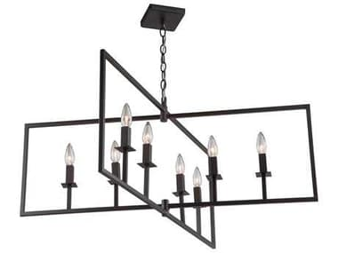 Artcraft Lighting Lux Oil Rubbed Bronze Eight-Light 36'' Wide Chandelier ACAC10723OB