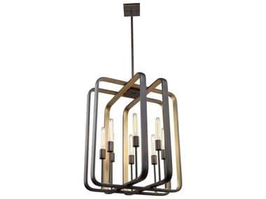 Artcraft Lighting Marlborough Oil Rubbed Bronze / Gold Leaf Eight-Light 24'' Wide Chandelier ACAC11083