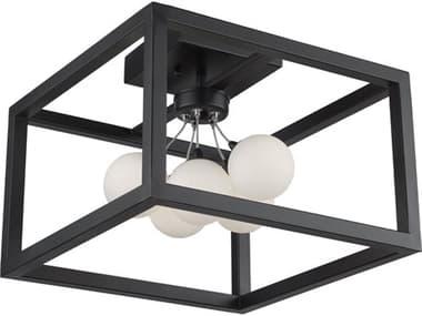 Artcraft Lighting Massey Matte Black 14'' Wide LED Flush Mount Light ACAC6600