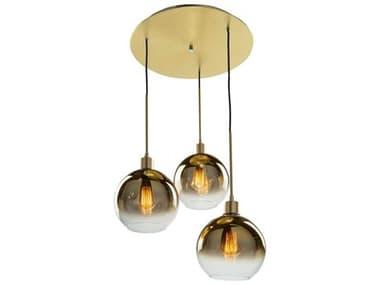 Artcraft Lighting Morning Mist Gold 3-light 19'' Wide Glass Pendant ACSC13283GD