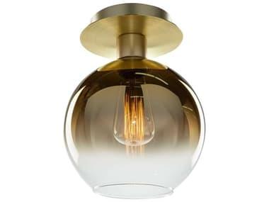 Artcraft Lighting Morning Mist Gold 1-light 7'' Wide Glass Semi-Flush Mount ACSC13280GD