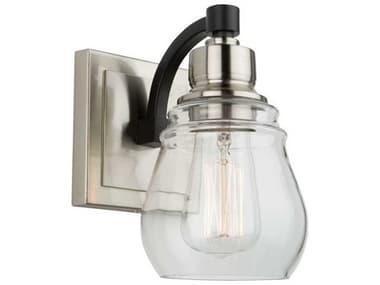 Artcraft Lighting Nelson Black And Brushed Nickel 1-light Glass Vanity Light ACAC11681NB