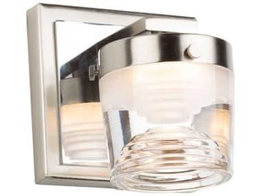 Artcraft Lighting Newbury Brushed / Polished Nickel One-Light Glass LED Vanity Light ACAC7661CB