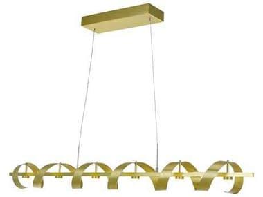 Artcraft Lighting Rolling Hills Brushed Brass Six-Light 47'' Wide Island Light ACAC7212GD