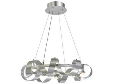 Artcraft Lighting Rolling Hills Brushed Aluminum Eight-Light 22'' Wide Pendant Light ACAC7210BA