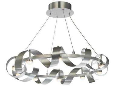 Artcraft Lighting Rolling Hills Brushed Aluminum Ten-Light 26'' Wide Pendant Light ACAC7211BA