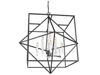 Artcraft Lighting Roxton Matte Black / Polished Nickel 12-light 42'' Wide Chandelier ACAC11202PN