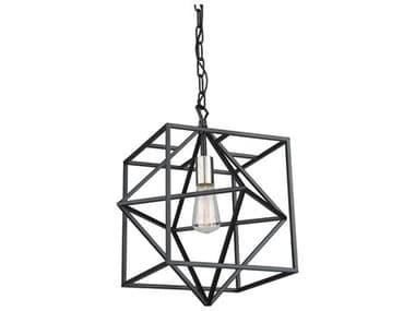 Artcraft Lighting Roxton Matte Black / Polished Nickel 1-light 15'' Wide Pendant Light ACAC11201PN
