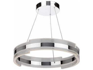 Artcraft Lighting Saturn Chrome & Clear 20'' Wide LED Pendant Light ACAC7470CH