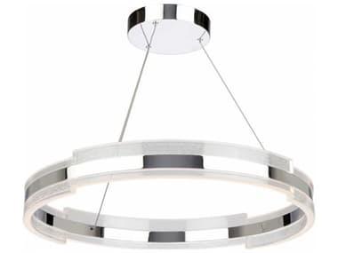 Artcraft Lighting Saturn Chrome & Clear 28'' Wide LED Pendant Light ACAC7472CH