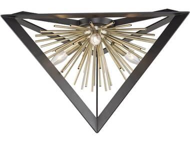 Artcraft Lighting Sunburst Matte Black / Satin Brass 20'' Wide Flush Mount Light ACAC11442