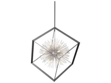 Artcraft Lighting Sunburst Matte Black / Chrome 12-light 37'' Wide Pendant Light Light ACAC11441CH