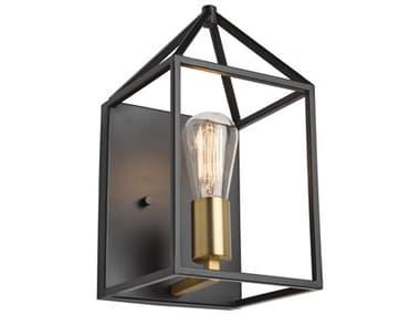 Artcraft Lighting Twilight Matte Black / Harvest Brass Wall Sconce ACSC13070