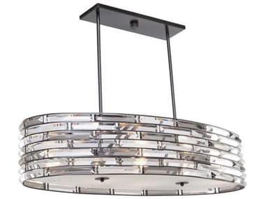Artcraft Lighting Vero Black Six-Light 36'' Wide Island Light ACAC11266
