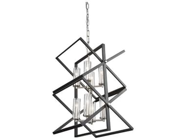Artcraft Lighting Vissini Matte Black / Polished Nickel 18'' Wide Mini Chandelier ACAC11470