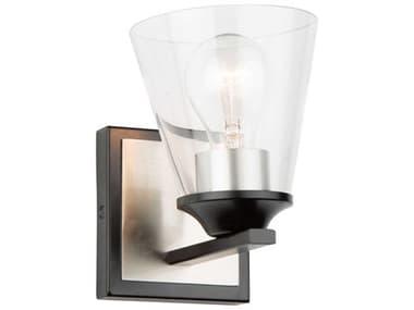 Artcraft Lighting Wheaton Black / Brushed Nickel One-Light LED Vanity Light ACAC11141NB