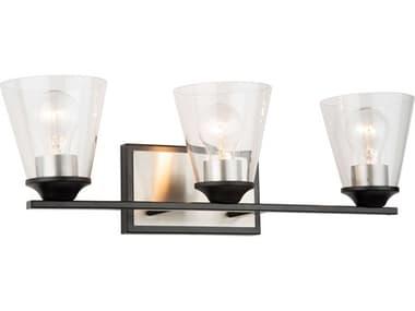 Artcraft Lighting Wheaton Black / Brushed Nickel Three-Light LED Vanity Light ACAC11143NB