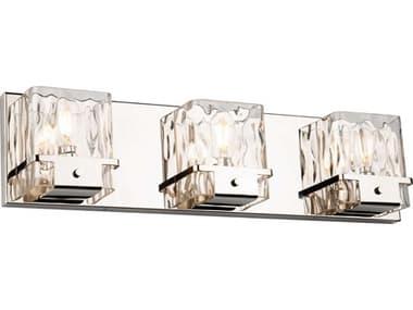Artcraft Lighting Wiltshire Polished Nickel Three-Light Glass LED Vanity Light ACAC11573PN
