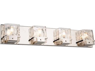 Artcraft Lighting Wiltshire Polished Nickel Four-Light Glass LED Vanity Light ACAC11574PN