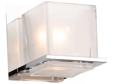 Artcraft Lighting Wyndham Chrome One-Light Glass LED Vanity Light ACAC11631CH