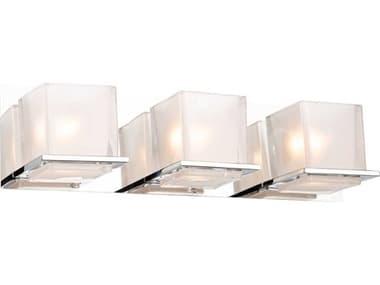 Artcraft Lighting Wyndham Chrome Three-Light Glass LED Vanity Light ACAC11633CH