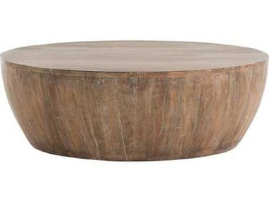 Arteriors Home Jacob Washed Tobacco 35.5'' Round Coffee Table ARH4303