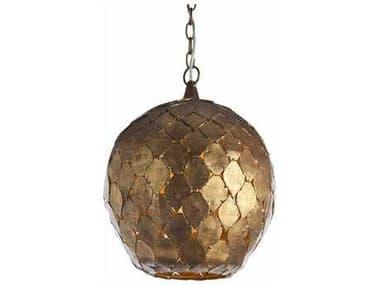 Arteriors Home Osgood Antique Gold Leaf 14'' Wide Pendant Light ARH46576