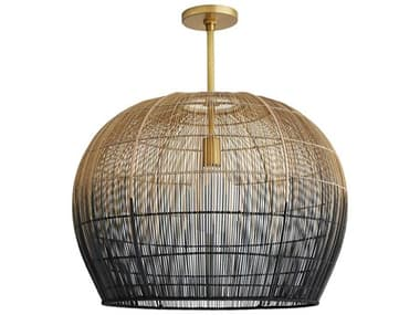 Arteriors Home Swami Natural And Black Ombre 22'' Wide Pendant ARH45060