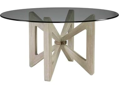 Artistica Bytterfly Bianco 56'' Wide Round Dining Table ATS208187056C40