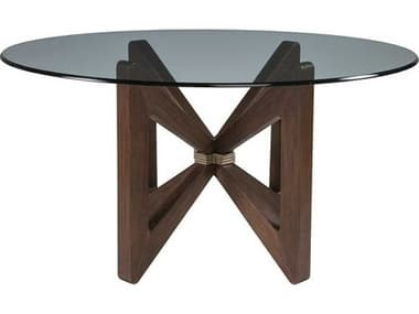 Artistica Bytterfly Marrone 56'' Wide Round Dining Table ATS208187056C42