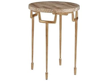 Artistica Calypso Veneered Parrot / Gold Leaf 16'' Wide Round End Table ATS2063950