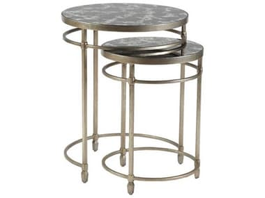 Artistica Home Colette Champagne Foil 19'' Wide Round Table Shape ATS2022958