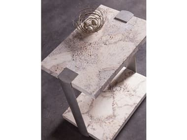 Artistica Home Corrina Fossilized Coral with Dark Iron 18''L x 12''W Rectangular Table Shape ATS2066955